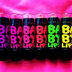 Neon baby lips balm