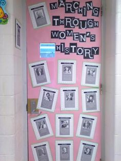 Quick board-download famous women in history with a quote about each one. Great for when kids were waiting to use the restroom to read!