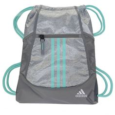 a7b643795d Adidas Alliance 2 Drawstring Backpack Accessories (Stone Jersey Aqua)  Fashion Backpack