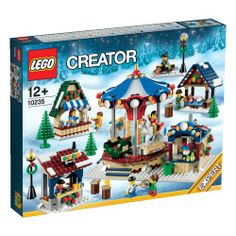 LEGO Creator Expert 10235 Winter Village Market Bring home the holiday spirit with the Winter Village Market, continuing the popular LEGO Winter Village Series. Lego Creator Sets, The Creator, Lego Winter Village, Lego Christmas, Christmas Holiday, Christmas Ideas, Lego Figures, Buy Lego, Christmas Settings