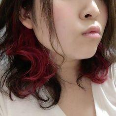 WEBSTA @ asukamu - #インナーカラー めっちゃピンク!!#マニックパニック の赤とショキピンを混ぜた。#仕事では隠す 。