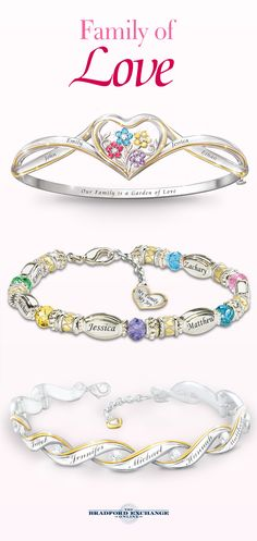 Let yourself be embraced with a constant reminder of your beloveds! Customize one of our unique family bracelets now and get it in time for Mother's Day.