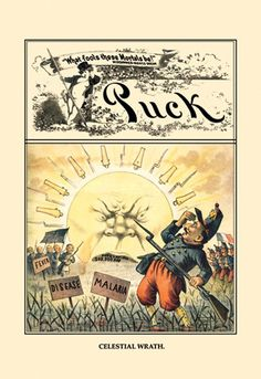 Puck Magazine: Celestial Wrath, by F. Opper