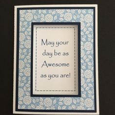 Blue & White Die Cut Happy Birthday Card by LoveDebbiesDesigns