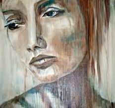 Op dit schilderij komt de emotie erg naar voren door middel van de mimiek van de vrouw. Zo is haar gelaatsuitdrukking er droevig en komt ze over alsof ze erg verdrietig is. De kunstenaar versterkt dit effect door middel van het gebruikmaken van de kleuren blauw en grijs rondom het gezicht van de vrouw.