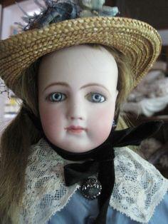 """Our beautiful """"Elizabeth,"""" a 20"""" Jumeau Portrait Fashion Poupee, ca. 1865-1870 (not for sale)"""