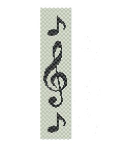 Music Peyote Pattern  Peyote Bracelet Musical by BeadingWonders, $3.50