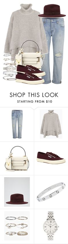 """""""Sin título #3612"""" by hellomissapple on Polyvore featuring moda, Levi's, Valentino, Superga, Reiss, Cartier, Boohoo, FOSSIL y Jules Smith"""