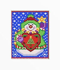 HAPPY SNOWMAN~LARGE PONY BEAD BANNER PATTERN ONLY in | eBay
