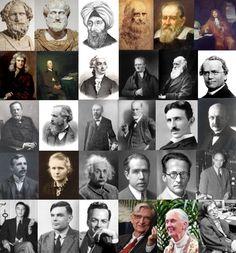 Archimedes, Aristotle, Ibn al-Haytham , Leonardo da Vinci, Galileo Galilei…