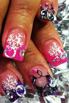 Top 10 Pastel Pink Christmas Nails for 2014 Christmas,Pastel Pink Christmas nails, Pastel Pink nails for Christmas  #pink #christmas #nails www.loveitsomuch.com
