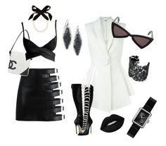 Black and White Collection by Inbar Bareket by inbar-bareket on Polyvore featuring Givenchy, Tom Ford, Dsquared2, Chanel, Kendra Scott, Lulu Frost, Stella & Dot, Yves Saint Laurent and Lime Crime