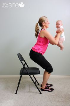 Working out with bubs - simple exercises that can be done whilst interacting with baby to help to get back into desired shape :)
