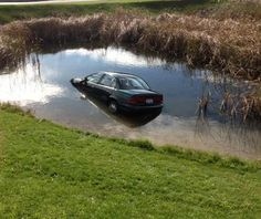 A 92-year-old woman ended up in a pond.
