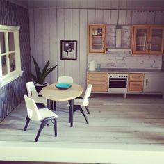Lundby dollhouse renovation, modern Miniatures, doll house furniture