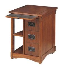 Powell Furniture Mission Oak Magazine Rack Cabinet