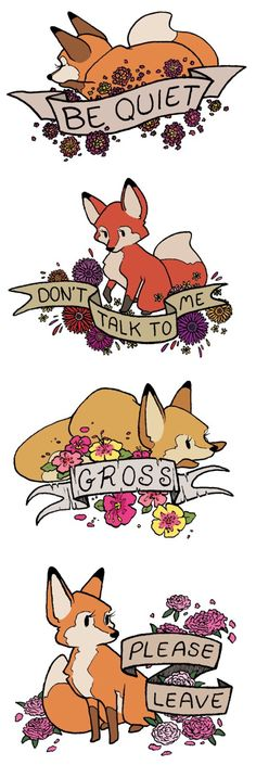 Adorable rude foxes... PERFECT