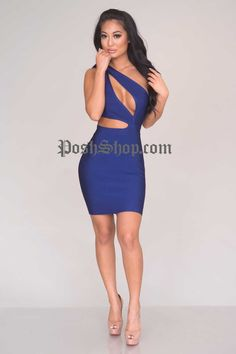 Justine Bandage Dress - Navy - New Arrivals