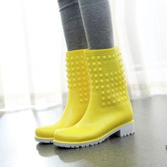 Just in: Rivets Rain Boots http://periwinklefashion.com/products/rivets-rain-boots-12?utm_campaign=crowdfire&utm_content=crowdfire&utm_medium=social&utm_source=pinterest
