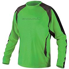 Endura Mens MT500 Burner II Long Sleeve Jersey Green XLarge >>> Want additional info? Click on the image.