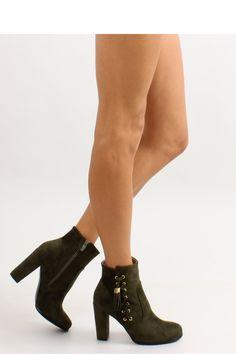 Heel boots model 68466 Inello. Heel height 10 cm       Size Insole lenght    36 23,2 cm   37 24 cm   38 24,8 cm   39 25,3 cm   40 26 cm   41 26,8 cm