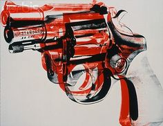 andy warhol, art, gun, guns, illustration, pop art