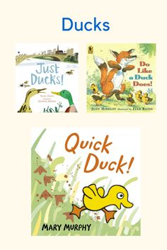 Duck themed books for your nursery.