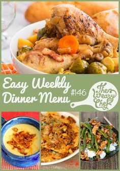 This week's easy dinner menu features hearty meals that are loaded with vegetables!