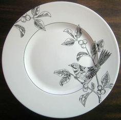 Decorative Dishes - Black on White Line Drawn Bird Berries Plate M, $19.99 (http://www.decorativedishes.net/black-on-white-line-drawn-bird-berries-plate-m/)