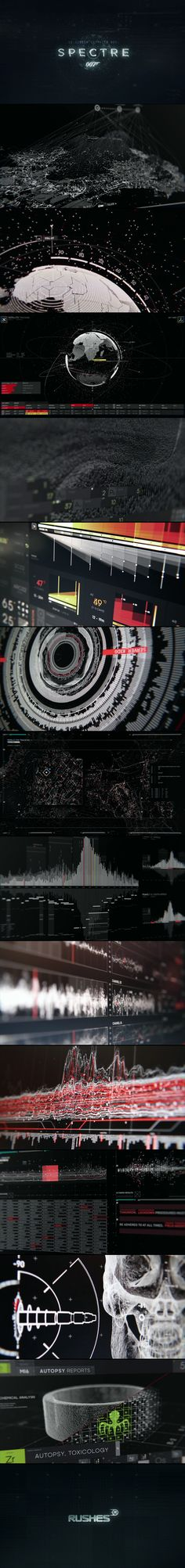 Some wow work from Soho, London based & award winning, international VFX Company Rushes who were tasked with designing and creating all on-set UI screen graphics for SPECTRE over a 13 month period ... UI Graphics Reel //...
