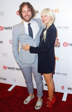 Australian singer, Sia Furler and husband Erik Anders Lang at Wayuu Taya Gala 2014....