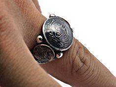 925 ayar tamamı el yapımı tuğralı gümüş erkek yüzük - ESKİŞEHİR GÜMÜŞ