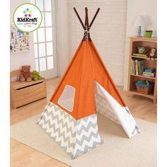 KidKraft Teepee, Orange - Walmart.com
