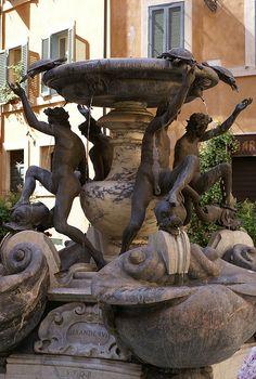 Rom, Piazza Mattei, Fontana della Tartarughe (Schildkrötenbrunnen / Fountain of the Turtles) | Flickr - Photo Sharing!