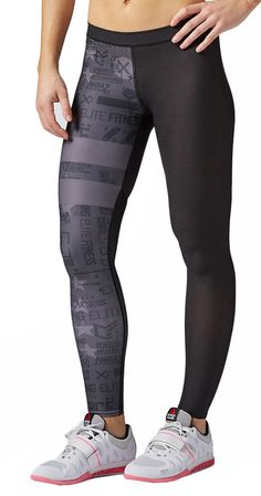 Tights Reebok Crossfit Comp Tight Stripes in Sporting Goods, Fitness, Running & Yoga, Fitness Clothing & Accessories   eBay