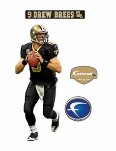 New Orleans Saints Drew Brees Junior Wall Decal by Fathead. $32.99. Peel and place whenever, wherever. Thick high-grade vinyl resists tears, rips and fading. No loss of adhesion and no damage to your walls. Dazzle fans and friends with a huge, colorful depiction of your favorite player on the wall. NFL New Orleans Saints Drew Brees Junior Wall Decal