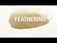 Watercolor Tips: Feathering   #Sandy_Allnock