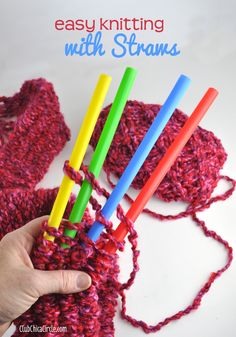 Easy Knitting with Big Straws Tutorial