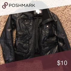 Faux leather jacket Mossimo Black leather jacket. Great condition. Super comfortable! Jackets & Coats