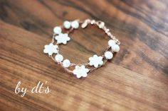 #Simply #Pretty Spring #Collection : #rosegold #double #layer #bracelet with #motherofpearls and #pearls