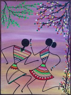 Buy traditional Indian paintings including Madhubani, Pichwai, Warli, Tanjore and many more at Artzolo. Widest collection of Indian folk art. Art Drawings For Kids, Art Drawings Sketches Simple, Worli Painting, Acrylic Paintings, African Art Paintings, Mandala Art Lesson, Doodle Art Drawing, Ecole Art, Madhubani Art