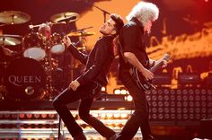 Brian May & Adam Lambert at iHeartRadio Music Festival Las Vegas | Source: Christopher Polk/Getty Images for Clear Channel