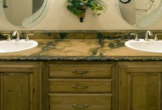 colored veined Concrete countertops