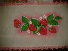 frutilla pintura en tela