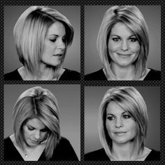 Short angled bobs, Candace cameron bure and Cameron bure on Pinterest