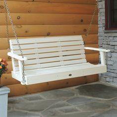 Highwood̴å¬ USA 4ft Weatherly Porch Swing - White Wash