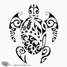 große schwarze schildkröte mit zwei schwarzen augen idee für einen großen schwarzen maorie tattoo