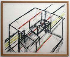 Bruce Nauman - Dream Passage Room - Gekleurd krijt en potlood op papier