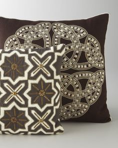 Hand-Embroidered Pillows - Horchow
