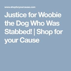 Justice for Woobie the Dog Who Was Stabbed! | Shop for your Cause